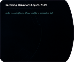 Recording: Operations Log ZK-7539