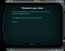 Personal Log: Voltyr