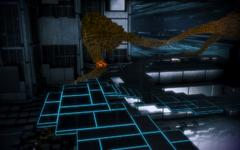 La luce arancione contiene i frammenti di codice