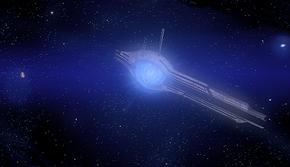 Il Portale di Caronte e Plutone come vengono visti nella mappa del Sistema Solare, in Mass Effect 2