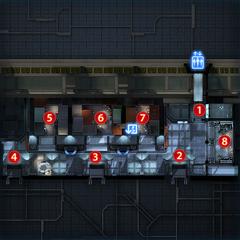 Mappa dell'Area d'attesa