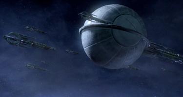 La Flotta Migrante come si vede in Mass Effect 2.