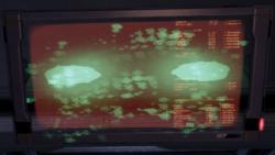 L'IV impazzita controlla un monitor