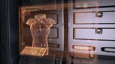 In Mass Effect 2, è possibile cambiare la Corazza nell'Armadietto delle corazze nella Cabina del Capitano