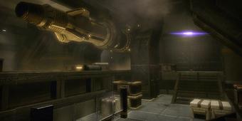 L'interno del silo missilistico