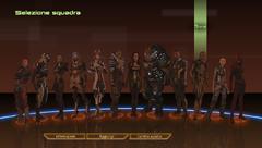 In Mass Effect 2 puoi cambiare le uniformi dei tuoi compagni di squadra, oltre che selezionarli o visualizzare le loro informazioni e/o il loro anello indicatore di lealtà.