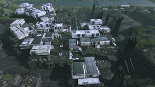 Vista dall'alto di Eden Prime nel 2186