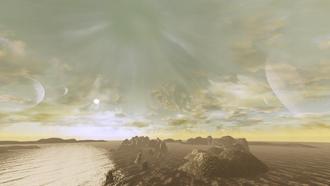 Ampia vista del cielo di Aeia