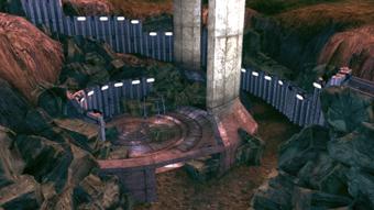 Il sito archeologico Prothean senza il manufatto per il quale sei atterrato sul pianeta