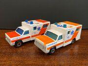 MB25 Ambulance - dark & pale orange stripes variations