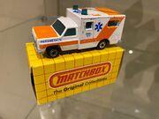 MB25 Ambulance - pale orange stripes - 'Paramedics' - box 1