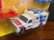 MB25 Ambulance - red & blue stripes - 'EMT'