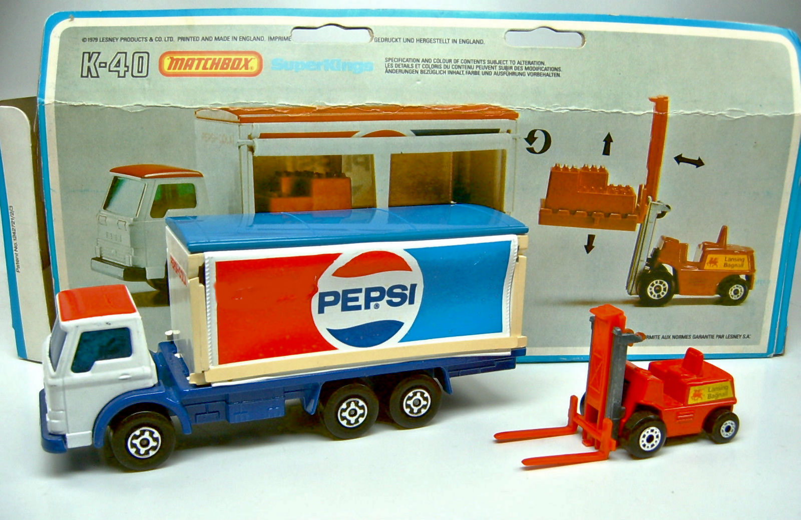 Delivery Truck and Fork Lift (K-40)