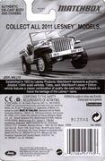 2011 MBX Lesney Jeep Willys - Rear