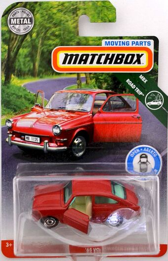 MATCHBOX 2019 MOVING PARTS MBX ROAD TRIP /'65 VOLKSWAGEN TYPE 3 FASTBACK