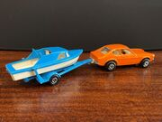 TP-5 Two Pack - Ford Capri with Boat and Trailer - rear