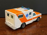 MB25 Ambulance - pale orange stripes - 'Paramedics' - rear