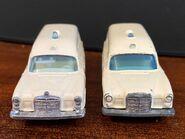 MB03 Mercedes-Benz Binz Ambulance - original casting vs revised casting front