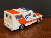 MB25 Ambulance - dark orange stripes - 'Paramedics' - rear