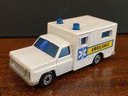 MB41 Ambulance - blue & yellow stripe 'Ambulance'