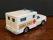 MB41 Ambulance - red & yellow stripes 'Ambulance' - rear