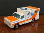 MB25 Ambulance - pale orange stripes - 'Paramedics'