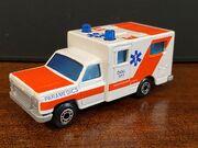MB25 Ambulance - dark orange stripes - 'Paramedics'