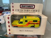 MB25 Ambulance Yellow Emergency Unit 3 - Collector's Choice no 2 - boxed