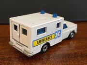 MB41 Ambulance - blue & yellow stripe 'Ambulance' - rear