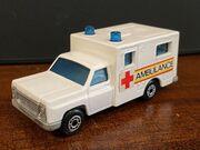 MB41 Ambulance - red & yellow stripes 'Ambulance'