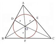 Circle in a triangle