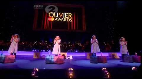 """MATILDA THE MUSICAL (West End) - """"Naughty"""" LIVE @ 2012 Olivier Awards"""