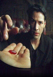 Or pill blue matrix quote red What does