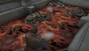Pool molten steel