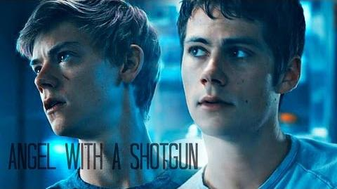 Newt & Thomas the Scorch Trials - Angel with a Shotgun-1