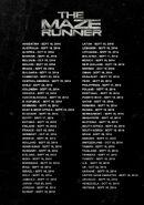 MazeRunner ReleaseDates