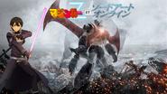 Mazinger Z behind Kirito(Title Logo)