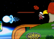 Fire Mario returning Mega man mega buster