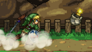 Link throws the bomb