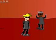 Steve and Brain dancing