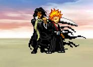 Ichigo and Zangetsu on Victory