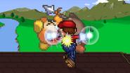 Mario using Mario Tornado