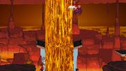 Wario burning