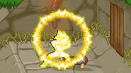 SSJ Goku down throw