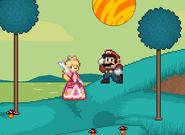 Mario and Peach on Namek