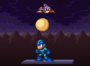 DeluPipi let go the egg to hit Mega Man
