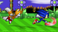 Sonic and Tails Running