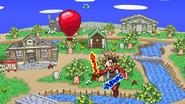 A balloon on Smashville