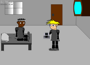 Steve and Brain at the hospital