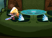 Lloyd using double demon fang